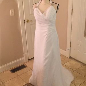 white wedding dress Galina Davids bridal 8